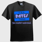 Create your own personalized BATES T Shirt using our online designer. No minimum order.