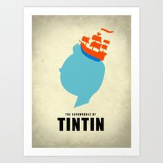 THE ADVENTURES OF TINTIN Art Print by Calvin Wu | Society6