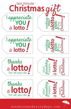 Looking for a last minute Christmas Gift idea? How about a lottery ticket with a fun Lotto Gift Tag? Use our Free Lotto Gift Tag Printable! Christmas Gifts For Coworkers, Last Minute Christmas Gifts, Diy Christmas Gifts, Christmas Fun, Lottery Ticket Christmas Gift, Lottery Ticket Gift, Christmas Gift Tags Printable, Free Christmas Printables, Free Printables