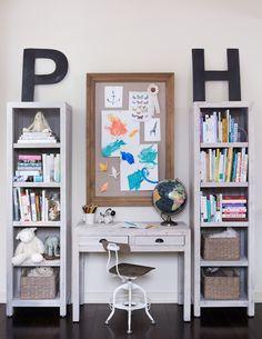 bookshelves // modern kids playroom