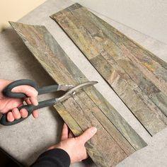 "Amazon.com: Aspect Peel and Stick Stone Overlay Kitchen Backsplash - Weathered Quartz (5.9"" x 23.6"" x 1/8"" Panel - approx. 1 sq ft) - Easy DIY Tile Backsplash: Home & Kitchen"