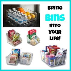 Bins! – I know it sounds crazy, but they will change the way your home functions! Great in pantries, cabinets, refrigerator/freezer or in the bathroom! By using bins for food storage, you can dispose of the packaging to save room in your cabinets. Then, when it is time to grocery shop, you can easily see what needs to be replenished! Plus… pair the bins with our Expandable Pantry Shelf and you have a space saving storage system for any cabinet!