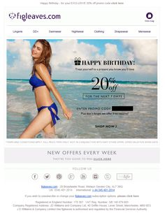 Everyone loves a Birthday treat. Giving your readers a special discount on their Birthday can help with engagement, and of course your website traffic and ROI. #emailmarketing #birthday #email