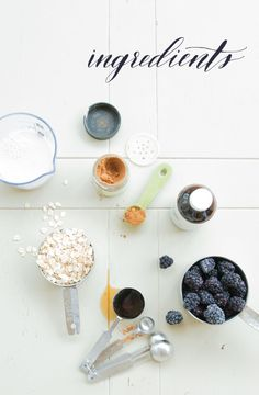 Ingredients for a Blackberry Cobbler Smoothie by Week of Plenty
