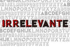Irrelevante. Display Fonts. $15.00