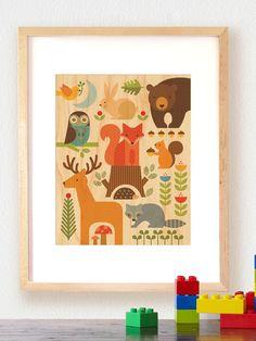 Petit Collage | Print on Wood