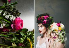 Floral headpieces | 100 Layer Cake