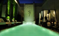 1828 SMART HOTEL BUENOS AIRES, ARGENTINA, Illuminated heated pool and cascade