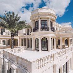 Luxury Grand White Mansion. For More, Check | @PharaohsLegacy