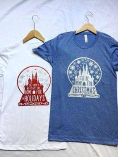 No Place Like Home For The Holidays Shirt / Disney Christmas / Disney Shirt / DVC /Women Disney Shirt/Snow Globe / Disney Castle/Disney Gift Disney World Christmas, Disney Christmas Shirts, Disney Shirts For Family, Disney Family, Disney Tees, Disney Diy, Disney Crafts, Disney Apparel, Walt Disney