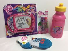 My Little Pony Gift Set Lot Easter Party Favor Rainbow Dash Toys Sports Bottle | eBay
