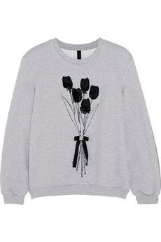 Mother of Pearl Berg embellished cotton-jersey sweatshirt | NET-A-PORTER