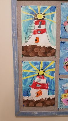 Lighthouses and aeroplanes Lighthouse Keepers Lunch, Art School, School Ideas, Arts Ed, Aeroplanes, Lighthouses, Art Education, Mardi Gras, Beautiful Images
