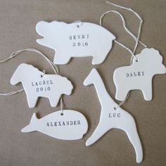 Custom Animal Ornaments