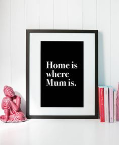 Home is where Mum is - Digital Poster / Interior Print by ClickDesignStore on Etsy