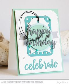 Brushstroke Birthday, Blueprints 22 Die-namics, Brushstroke Birthday Greetings Die-namics, Tag Builder Blueprints 2 Die-namics - Inge Groot #mftstamps