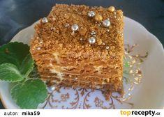 Nepečený Lotus řez s krémem mascarpone recept - TopRecepty.cz Tiramisu, Rum, Lotus, French Toast, Sweets, Baking, Breakfast, Cake, Ethnic Recipes
