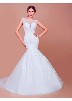 Cheap bridal gown, Buy Quality mermaid wedding dresses directly from China plus mermaid wedding dress Suppliers: Wonderful 2017 Mermaid Wedding Dresses Spring Plus Size Scoop Court Train Gorgeous Lace Appliques Open Back Bridal Gown Sophisticated Wedding Dresses, Wedding Dress Sleeves, Forever, Trends, Spring Dresses, Lace Applique, Dream Dress, Dress Making, Wedding Events