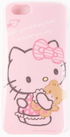 iPhone six cover in soft flexible design with Hello Kitty and Tiny Chum. Instantly makes the phone so much sweeter!