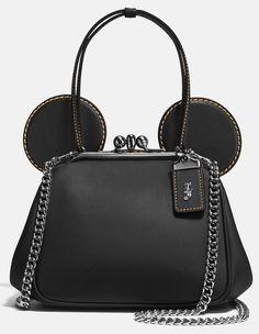 Disney X Coach - Mickey Kisslock Bag in Glovetanned Leather Coach Handbags, Coach Purses, Coach Bags, Purses And Bags, Coach Disney, Disney Purse, Disney Merchandise, Cute Bags, Disney Outfits