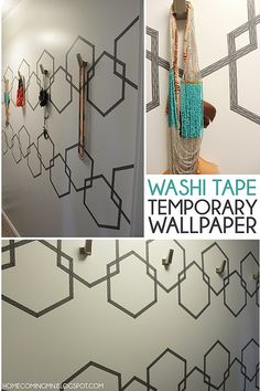 Washi Tape Temporary Wallpaper