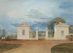 Joseph Mallord William Turner 'The East Gates at Farnley ('Turner's Lodges')', c.1818 - Bodycolour on paper -  300 x 414 mm - courtesy Private Collection, UK