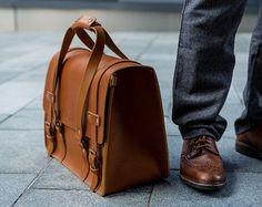 Leather Camera Bag Messenger Oversize Briefcase Workbag