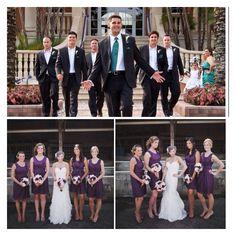My wedding colors. Men-teal. Women-purple.
