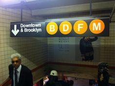 NY subway signage