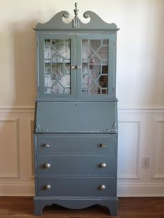 Chrissie's Collection - Custom Painted Furniture. Secretary in Charcoal Grey sold
