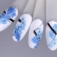 Attention to the semi-permanent varnish - My Nails Floral Nail Art, Nail Art Diy, Cool Nail Art, Cute Nails, Pretty Nails, My Nails, Long Nails, Spring Nails, Summer Nails