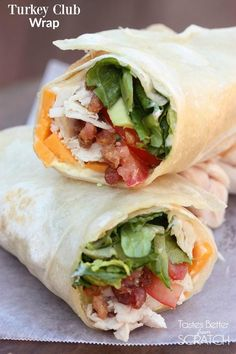 These wraps are perfect for using that leftover thanksgiving turkey, or you can even substitute leftover rotisserie chicken. They're delicious, easy to make and filling!!