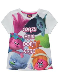 Trolls Glitter T-shirt, read reviews and buy online at George at ASDA. Shop from our latest range in Kids. The whole hairy crew is printed on this t-shirt to...