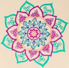 Mandala drawing by Felicia Heesen-This is so cute and colorful Mandala Drawing, Mandala Tattoo, Sketch Book, Drawings, Doodle Art, Mandala, Zentangle, Art, Cool Drawings