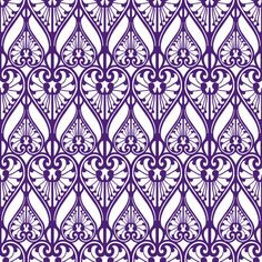art nouveau purple pattern