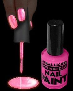 Glow In The Dark Nail Polish (Pink) « Holiday Adds