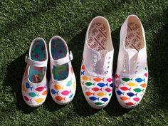 zapatillas pintadas a mano de niños - Buscar con Google