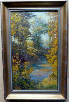 LUDWIG BÜRGEL 1901-1980 Seekirchen SALZBURG  Gemälde, Öl auf Karton 28 x 48 cm
