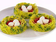 Spaghetti Nests Recipe : Giada De Laurentiis : Food Network ~ Your Kids Will Love These!!!!!
