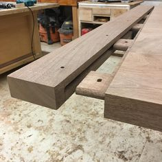 Joinery for breadboard ends for a trestle table currently in the shop. This joint is so satisfying to make and fit! Heading to a very patient @knumberphive soon! by bachcustomjoinery