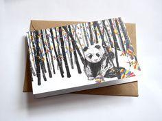 Endangered Panda // Greeting Card
