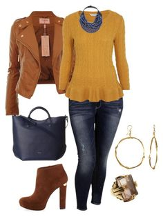 """""""easy fall/winter plus size look 2"""" by kristie-payne ❤ liked on Polyvore featuring Old Navy, Miss Selfridge, MICHAEL Michael Kors, Furla, Rossana Fani and MANIAMANIA"""