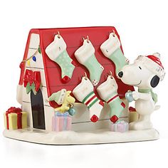 LENOX Figurines: Animated Characters - Snoopy's Christmas Decorations For You Figurine