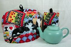 Tuxedo Cats Tea Pot Cozy  Quilted Tea Cozy by ShirleySewDesigns, $24.00