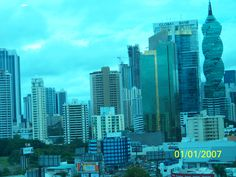 How would you love this view...The Banking Center in Panama City, Panama known as Obarrio...:):)  That fantastic building is called REVOLUTION :)