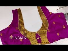 Paithani saree blouse design/blouse In this video i show you how to make BLOUSE DESIGN easy simple and beautiful blouse back neck design cutting and stitchin. Brocade Blouse Designs, Patch Work Blouse Designs, Simple Blouse Designs, Saree Blouse Neck Designs, Stylish Blouse Design, Blouse Neck Models, Baby Dress Design, Neck Designs For Suits, Blouses