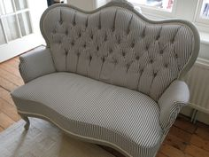 How to restore and upholster a button backed sofa