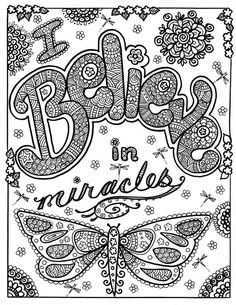 Believe In Miracles Coloring Pages 01