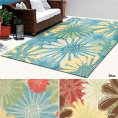 164.04 Rug Squared Palmetto Daisy Indoor/Outdoor Area Rug (7'9 x 10'10)