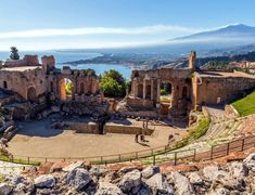 Ruins of the ancient greek theater of Taormina | 10 Top Rated Tourist Attractions In Sicily
